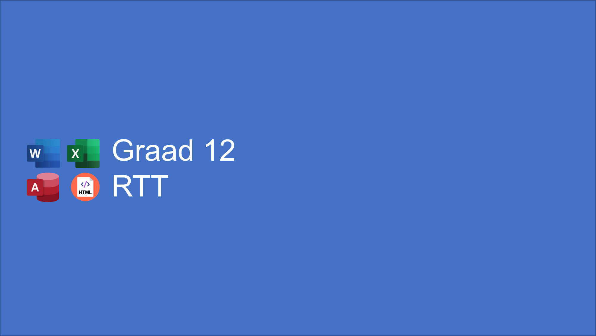 Graad 12 RTT