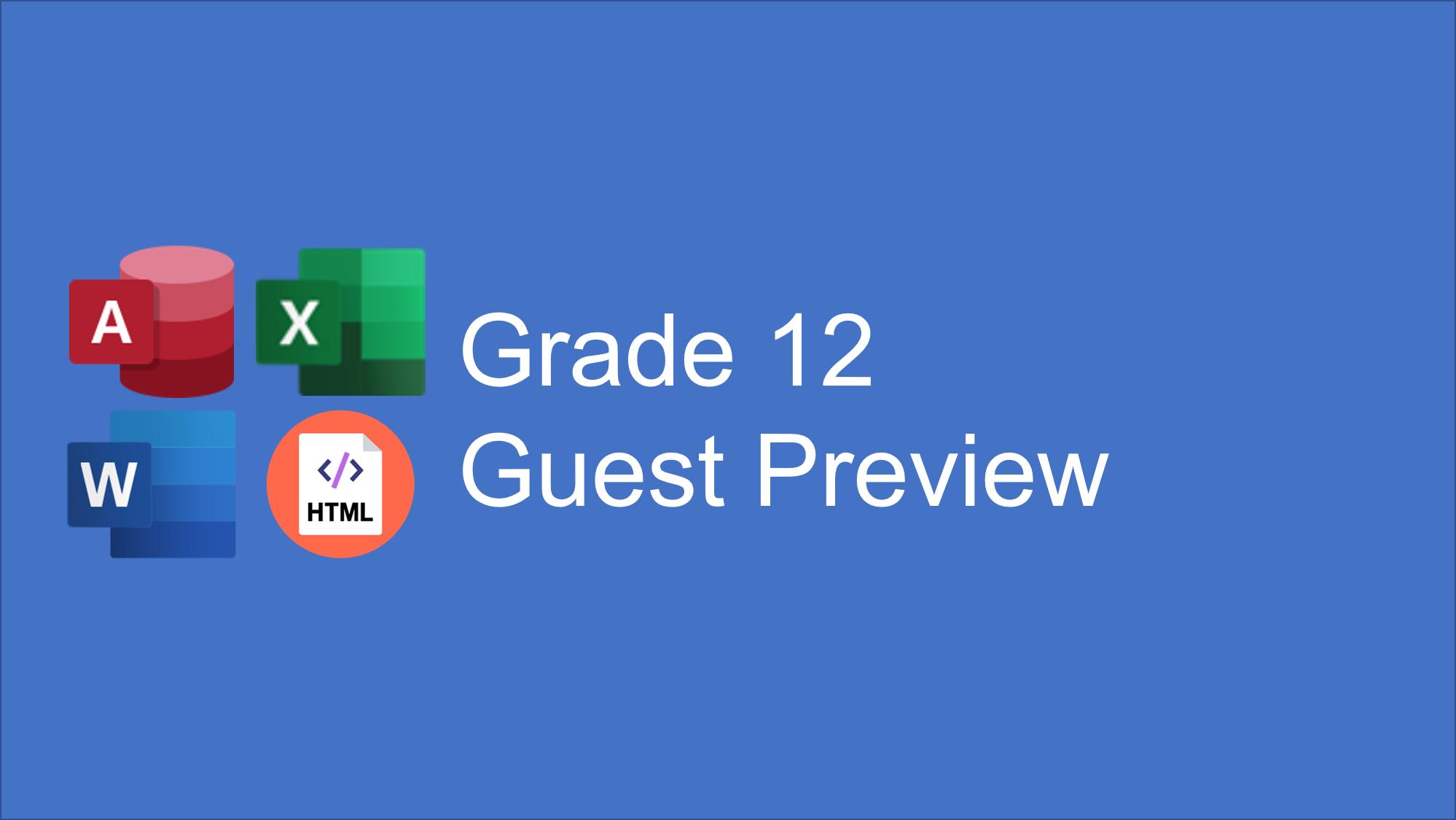 Grade 12 CAT Guest Preview